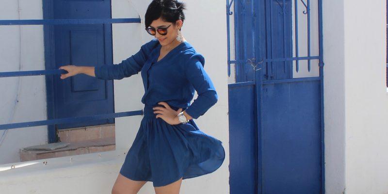 Ada Mavisi Elbise
